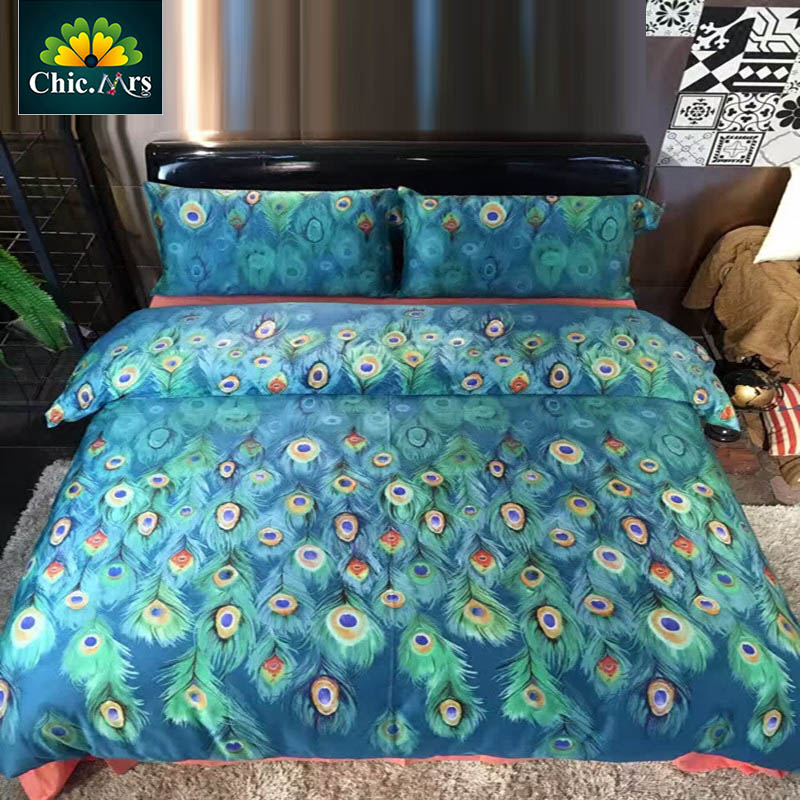 Popular Peacock Feather Bedding Buy Cheap Peacock Feather