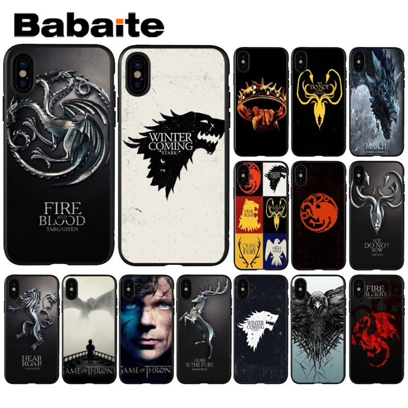 Half-wrapped Case Contemplative Babaite Game Of Thrones Novelty Fundas Phone Case Cover For Iphone X Xs Max 6 6s 7 7plus 8 8plus 5 5s Xr High Resilience
