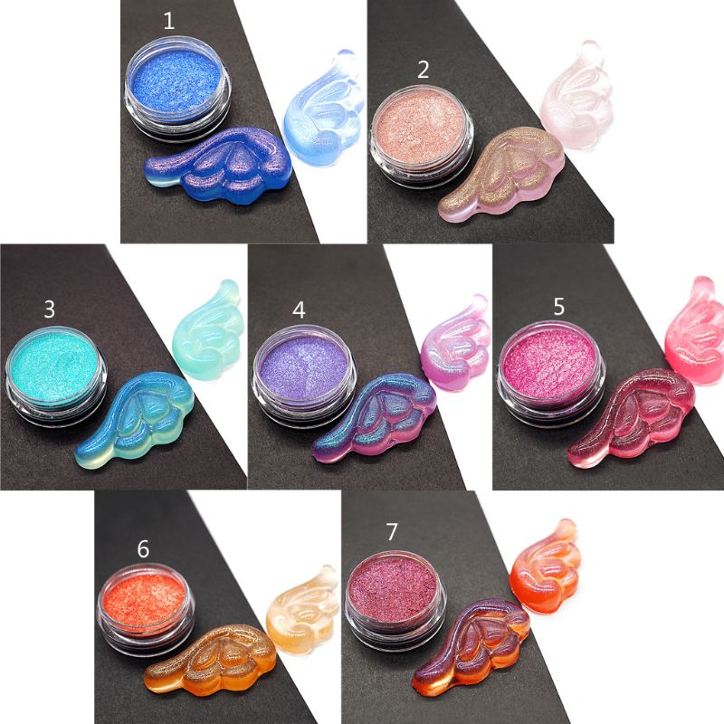 1  PC Laser Resin Pigment Colorants Suspended Glitters Epoxy Resin Mold Jewelry Making