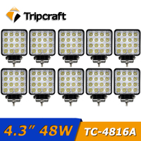TRIPCRAFT 10pcs Lot 48W Led Work Light Spot Flood Beam For Offroad Motorcycle Boat Car Ramp