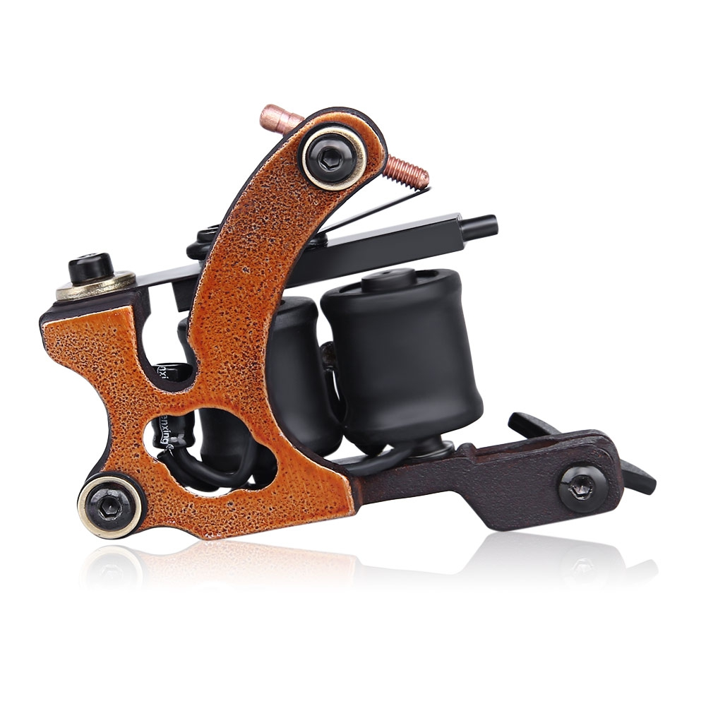 Buy now FISO Professional Iron 10 Wrap Coils Tattoo Machine Liner Gun Classic Frame Electric