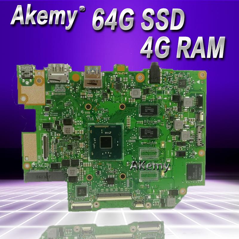 Akemy E403SA Motherboard For ASUS E403SA E403S Mainboard Work 100% Test Original N3700 4 Cores 4G RAM 64G SSD