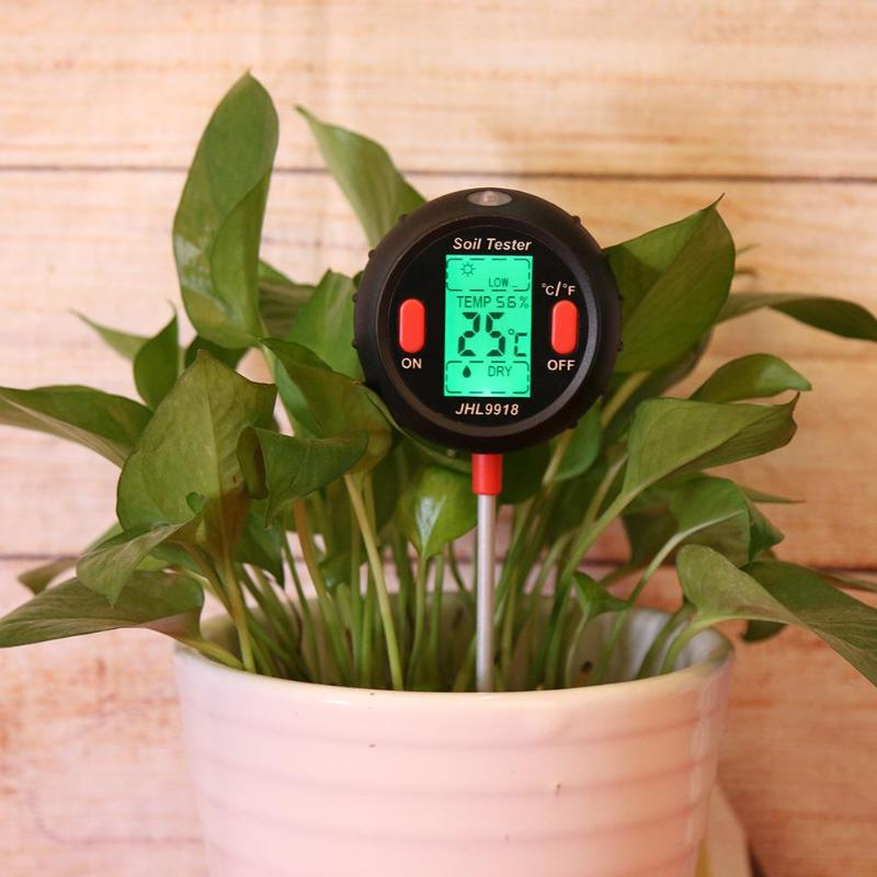 5 in 1 Soil PH Water Moisture Meter Garden Plants Flowers Moist Tester Water Quality Plants Hydroponics Analyzer Measurement
