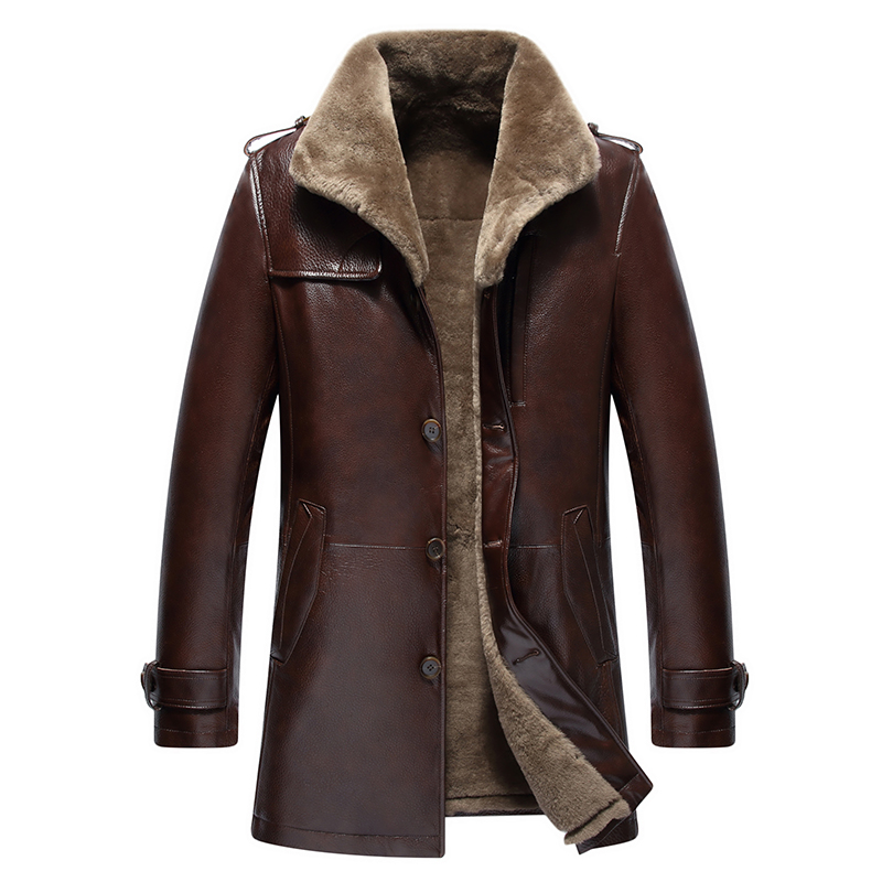 Winter Genuine Leather Jackets for Men Brand Clothing ...
