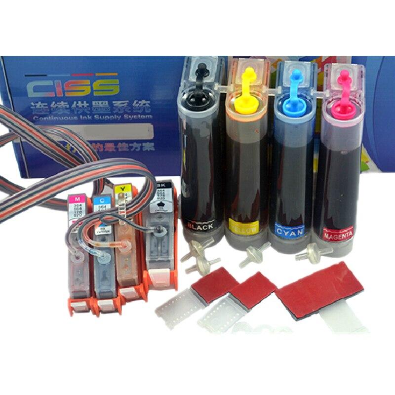 CISS compatible pour HP 364 xl compatible avec Officejet 5520 5524 6510 6520 7510 B109 B110 B209 B210 C309 C310 Imprimante