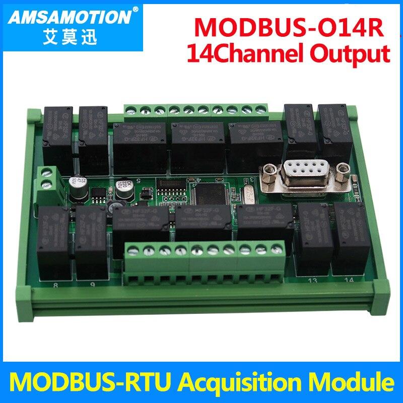 MODBUS-RTU 14DO 32DI Acquisition Module RS485 Industrial Control Board  MODBUS Communication Module MODBUS-RTU 14DO 32DI Acquisition Module RS485 Industrial Control Board  MODBUS Communication Module