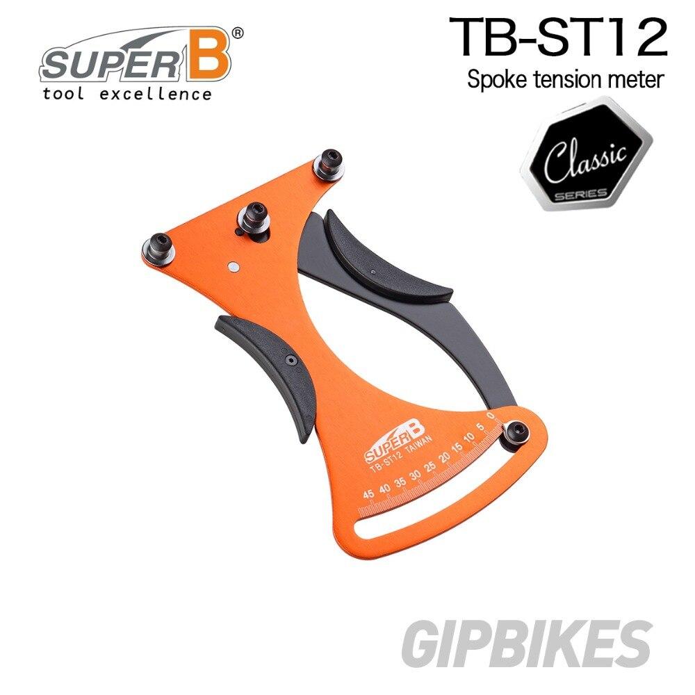 Le compteur de Tension de rayon de bicyclette de vélo de TB-ST12 de Super B mesure la Tension de rayon pour des outils de réparation de bicyclette de roues de construction/Truing