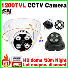 hot Sale 1/3cmos real 1200TVL HD Security Surveillance Cctv Camera Leds IRcut Indoor 960H Dome Infrared Night Vision Home Video