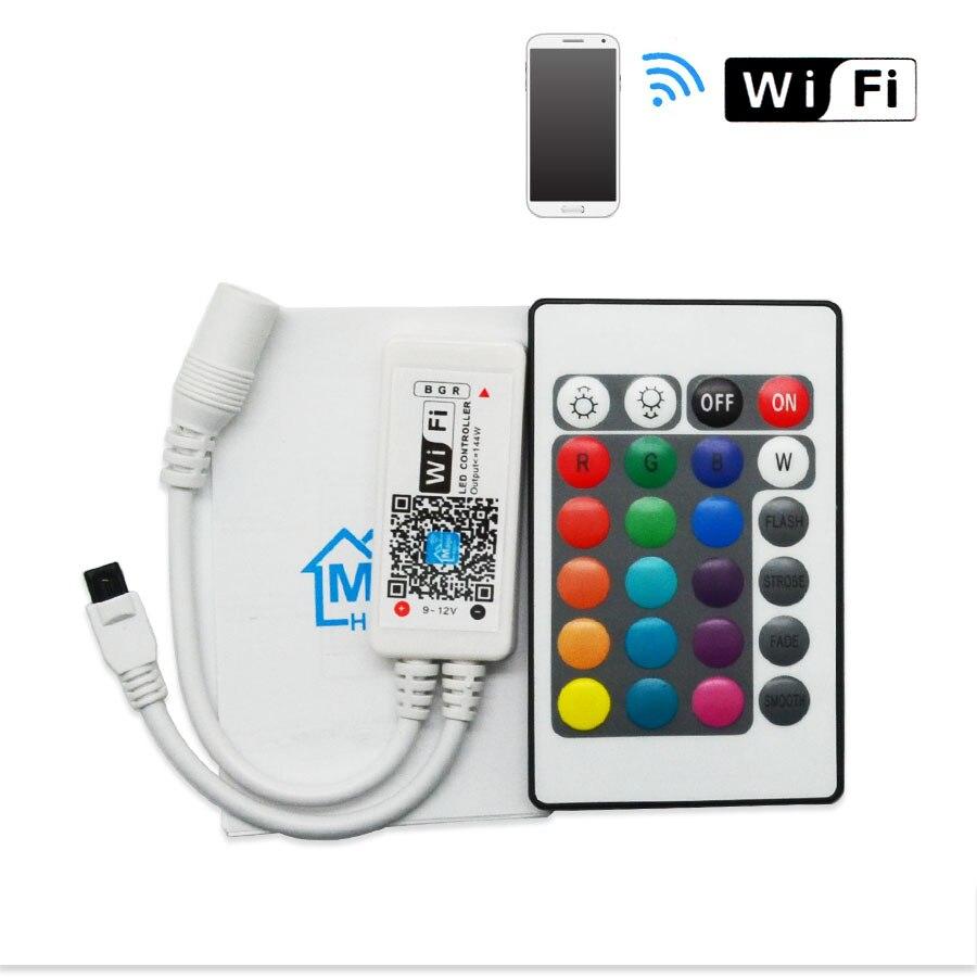 dc12v rgb rgbw wifi led controller android ios mini ir. Black Bedroom Furniture Sets. Home Design Ideas