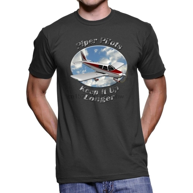US $11 99 |Fashion Hot sale Piper Cherokee 140 Piper Pilots Men Dark T  Shirt Tee shirt-in T-Shirts from Men's Clothing on Aliexpress com | Alibaba
