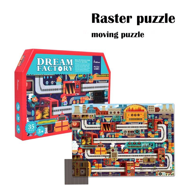 2018 nouveau créatif 70 cm magique rêve usine 35 pièces grands puzzles enfants jouets éducatifs bébé préscolaire anniversaire cadeau de noël
