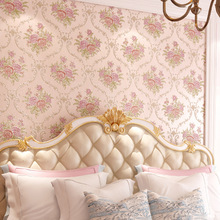 где купить Non Woven Flower Wallpapers 3D European Home Improvement Rustic Embossed Living Room Bedroom Wall Paper Roll for Walls Backdrop по лучшей цене