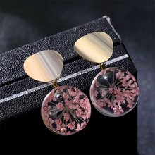 KISSWIFE Metal Earring With Romantic Petals Glass Ball Drop Earrings Elegance Valentine's Day Earring Girl Gift(China)
