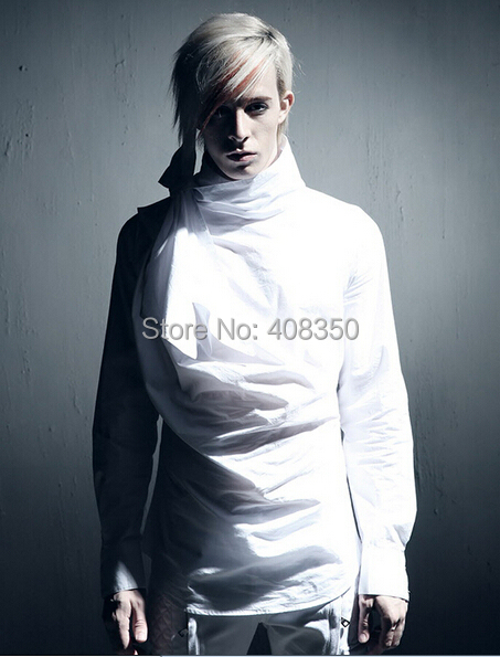 Vintage Tuxedo Dress Shirts Mens Fashion Bowknot Long Sleeve Designer Brand White Black Shirt Chemise Homme 2015 New  (1).jpg