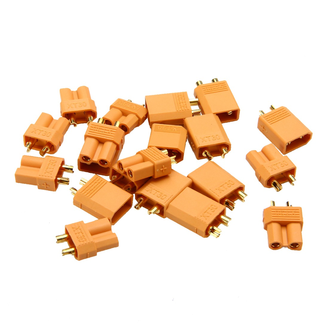 XT30 Power Connector Plug Socket For RC Quadcopter Helicopter Airplane Toys Parts 1 Pair 5 Pairs 10 Connectors
