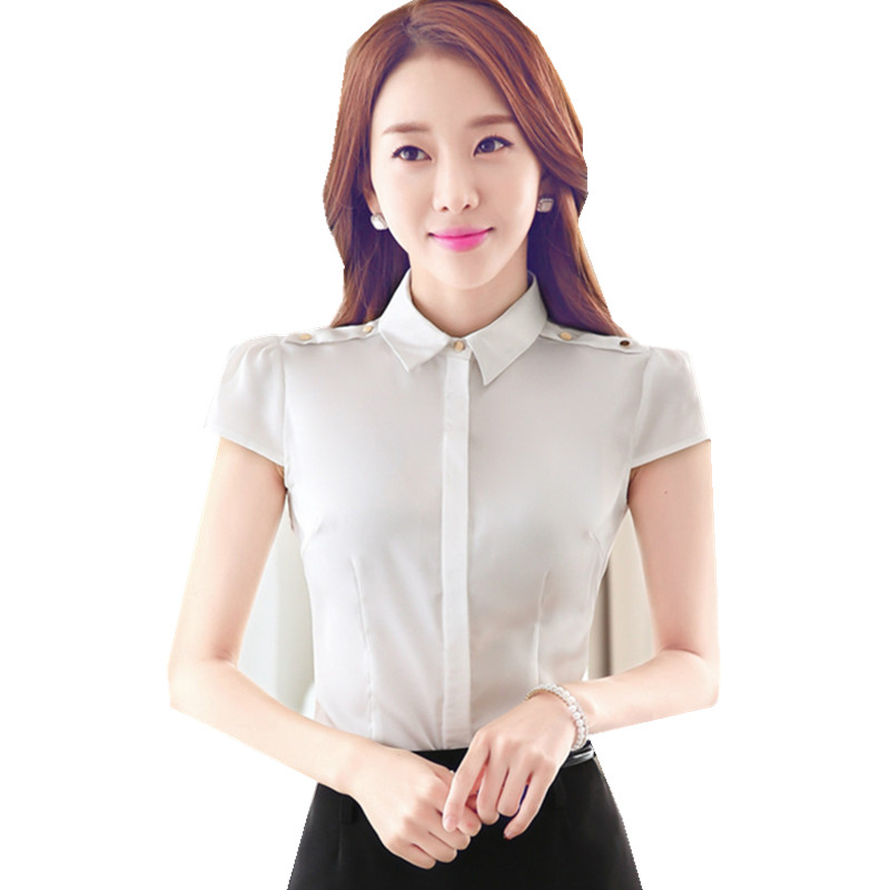 Compare Prices on White Silk Short Sleeve Blouse- Online Shopping ...