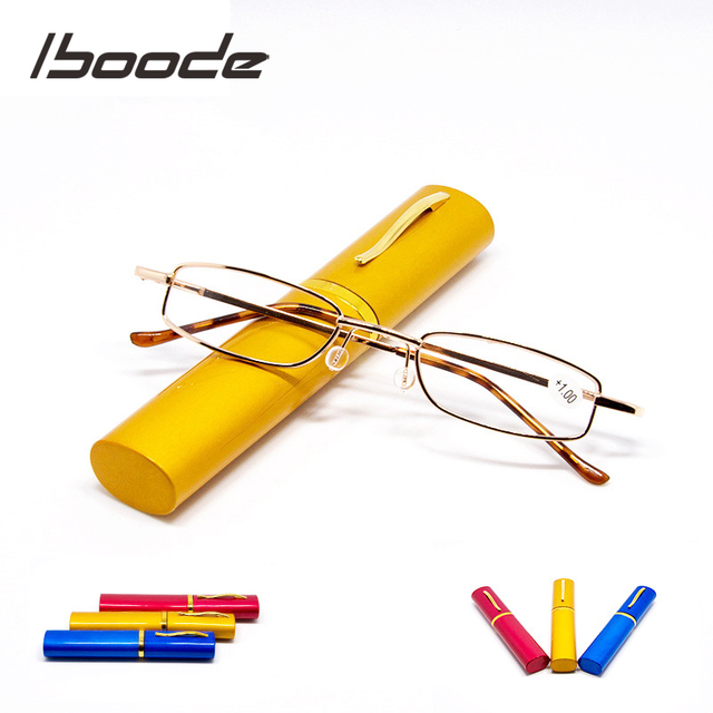 iboode Reading Glasses Men Women Foldable Presbyopic Reading Glasses With Case 1.0 1.5 2.0 2.5 3.0 3.5 4.0 Diopter