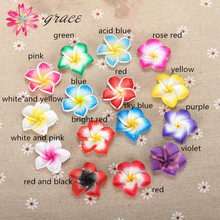10pcs/lots 30mm Polymer Clay Fimo Plumeria Rubra Flower Beads Charming Petal Hole Diy Earring Pendant Necklace Jewelry Materials