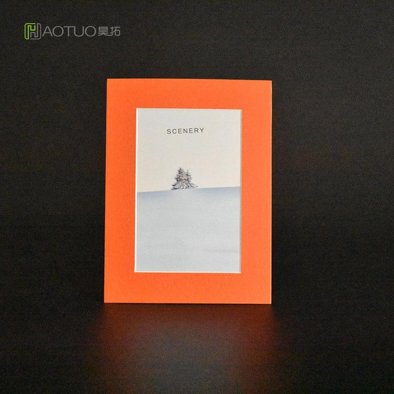 ᗜ LjഃHAOTUO Photo Frame 45 Degree Bevel Cut Orange Cardboard Photo ...