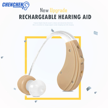 New Best Hearing Aid Sound Amplification Rechargeable Universal USB Socket BTE Adjustable Audifono