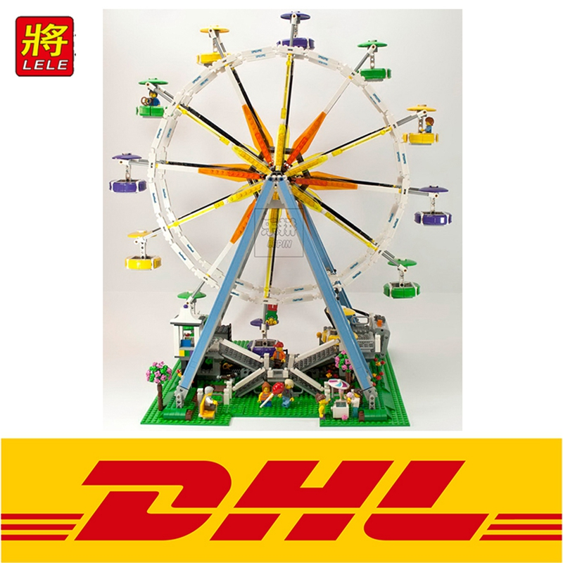 2518PCS LELE 30000 Ferris Wheel Modular Street Fairground Creator Building Bricks Blocks Toy for children gift Compatible 10247 dhl lepin 15012 2518 pcs city expert ferris wheel model building kits blocks bricks toys compatible with legoingly 10247