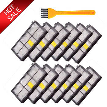 12Pcs High quility HEPA brush Filter Replacement for iRobot Roomba 800 900 Series 870 880 980 Vacuum Cleaner parts accessories - DISCOUNT ITEM  30 OFF Home Appliances