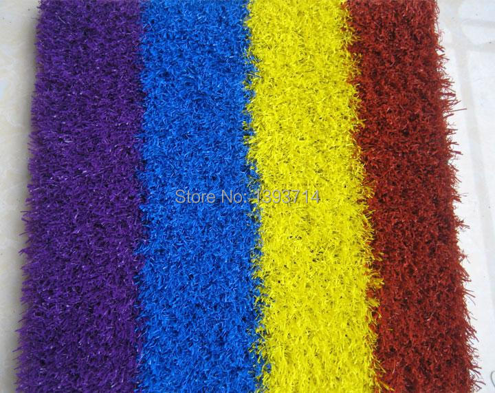 Colorful artificial grass for runway / children playground