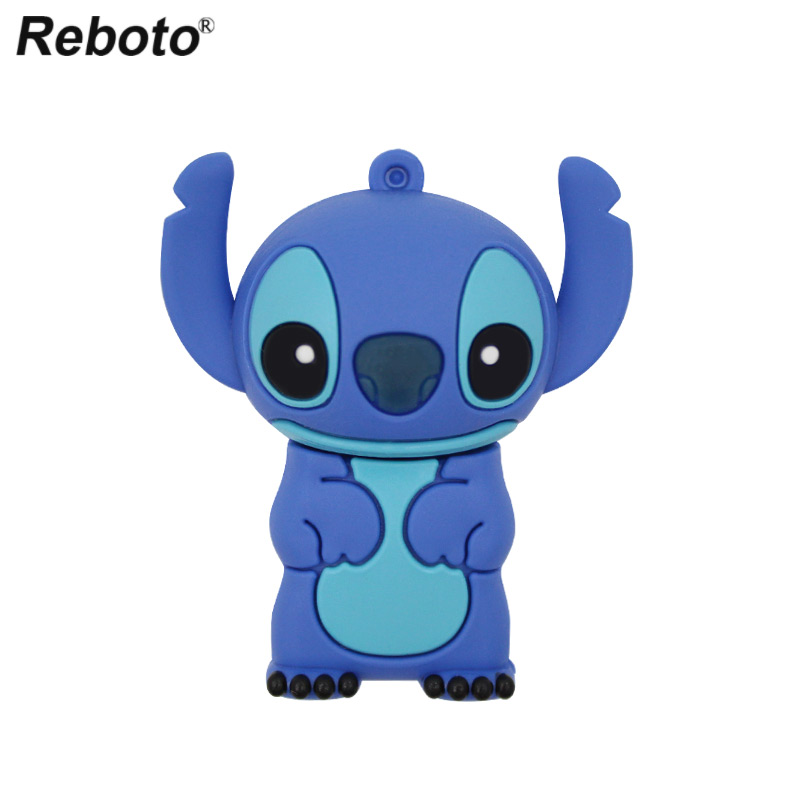 Cute Cartoon USB Flash Drive Lilo&Stitch Memory USB Stick 4GB 8GB Blue Stitch Thumb Pendrive 16GB 32GB Pen Drive U Disk For Gift