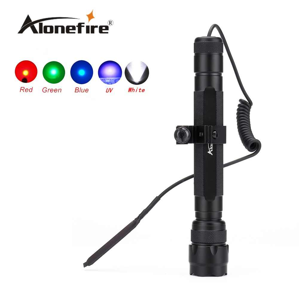 AloneFire Pistol 502D LED Tactical Gun Senter Torch Cahaya Lampu Berburu Torch + Remote Switch + Gun Mount