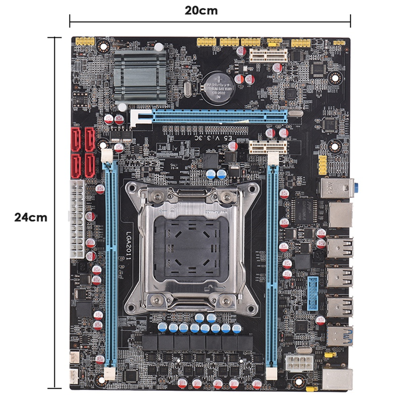 E5 3.3C Motherboard Lga <font><b>2011</b></font> <font><b>X79</b></font> Lga2011 <font><b>Socket</b></font> Motherboard Server Reg Ecc Function Pci-Express Usb 3.0 Ddr3 32G Mainboard M-A image