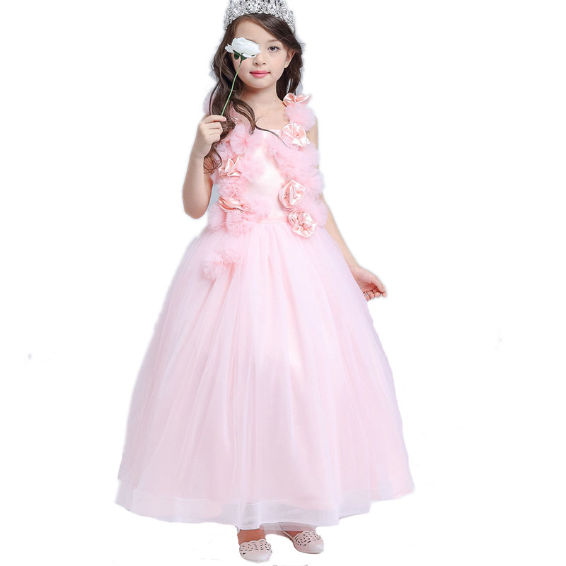Summer Formal Clothes Girls Wedding Dress Princess Party Dress Baby Kids 10 11 12 Years Teenager Vestidos TuTu Elsa Costume baby girls tutu dress summer party little princess kids girl costume kids tulle formal dresses for age 3 7 8 10 to 12 years
