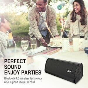 Image 5 - Alto falante portátil mifa a10, wireless, som estéreo, sistema de 10w, mp3, áudio aux com microfone para música iphone do android, iphone
