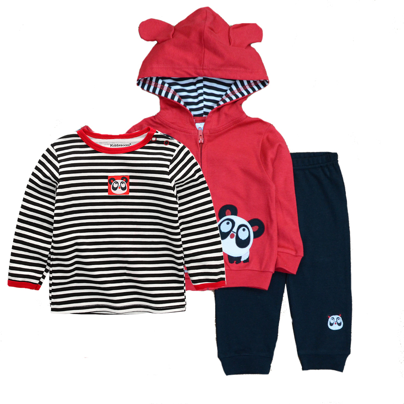 2019 baby clothing set 3PCS hoodie+T-shirt+pants ropa bebe 12-24 months O-neck cotton infant costumes baby boy girl clothes
