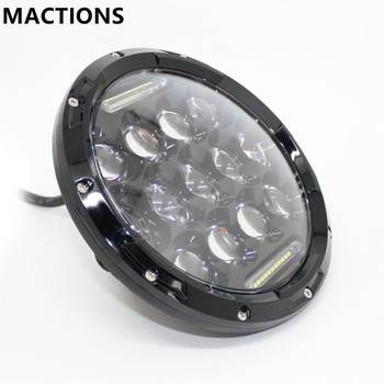 """7"""" Projector Round 75W 7500LM Hi/Low Beam Motorcycle LED Headlight Bulb Daytime Running Light for Harley"""