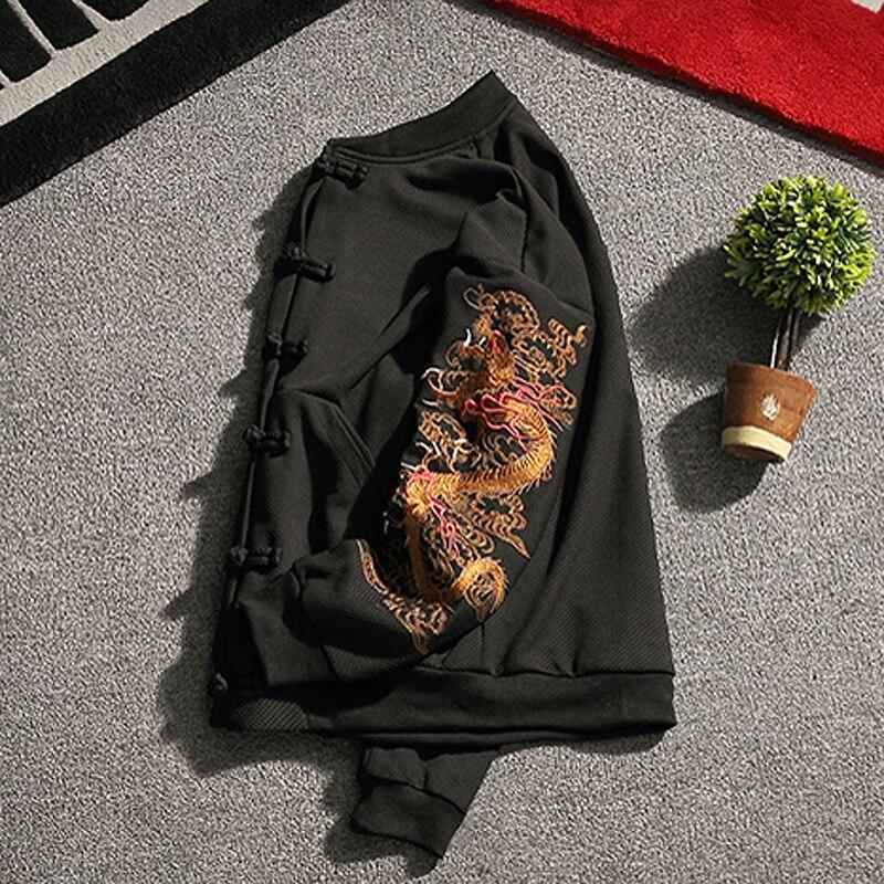 KUEGOU 2019 Осенняя хлопковая однотонная черная толстовка с капюшоном Мужская модная Толстовка в стиле хип хоп Японская уличная одежда мужские ... - 3