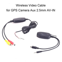 Backup Camera Wireless Video Cable for DVR Mirror Dash Cam Car Rear View RCA Photo to Aux 2.5mm AV-IN Adapter