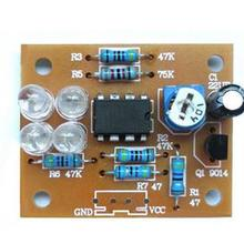 LM358 breathing light parts electronic DIY fun making kit blue flashing lamp