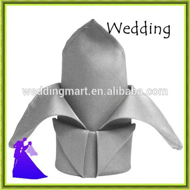 Marious Brand Grey table napkin polyester wedding cheap for party 45*45cm free shipping