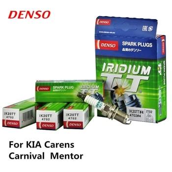 4pieces/set DENSO Car Spark Plug For KIA Carens Carnival  Mentor Iridium Platinum IK20TT