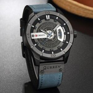 Image 2 - Relogio Masculino CURREN Watch Men Waterproof Calendar Sport Military Male Clock Top Brand Luxury 3D Dial Man Wristwatch 8301