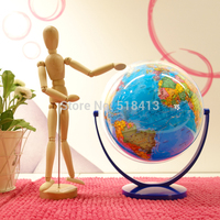 Inclination Of Universal Terrestrial Globe Dia 20cm Hd Ocean Blue In Both English And Chinese Student Educational Unisex