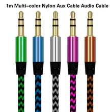 Universal 3.5mm Jack Audio Cable Nylon Braid 3.5mm Car AUX Cable 1.5M Headphone Extension Code for Phone MP3 Car Headset Speaker(China)