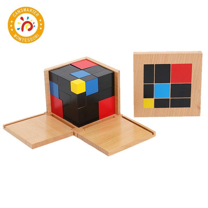 Blocs de Cube Trinomial rouge jaune bleu couleur Motessori enfants jouets mathématiques Standard formation préscolaire apprentissage jouets jeux SE019