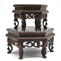 Antique carved wooden pedestal base customized technology base