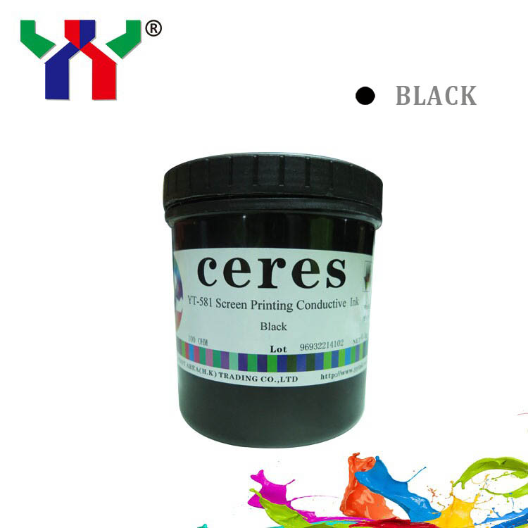 1kg can PVC Printing Conductive Ink Screen Printing Conductive Carbon Ink Black 35ohm