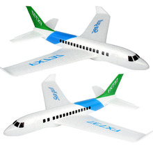 цена на Saleaman Hand Launch Throw Foam Palne EPP Airplane Boeing 737 Model Plane Glider Aircraft Model DIY Educational Toy For Children
