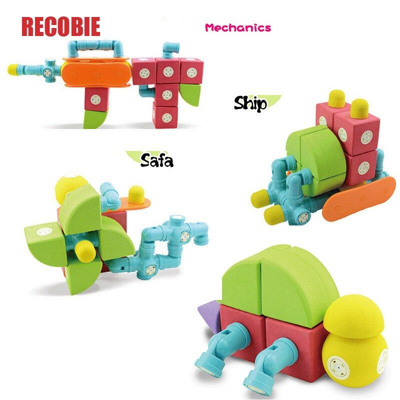 Enfants grande taille blocs magnétiques Construction jouets sûrs EVA nouveau Style aimant jeux éducatifs enfant en bas âge jouet qw0014
