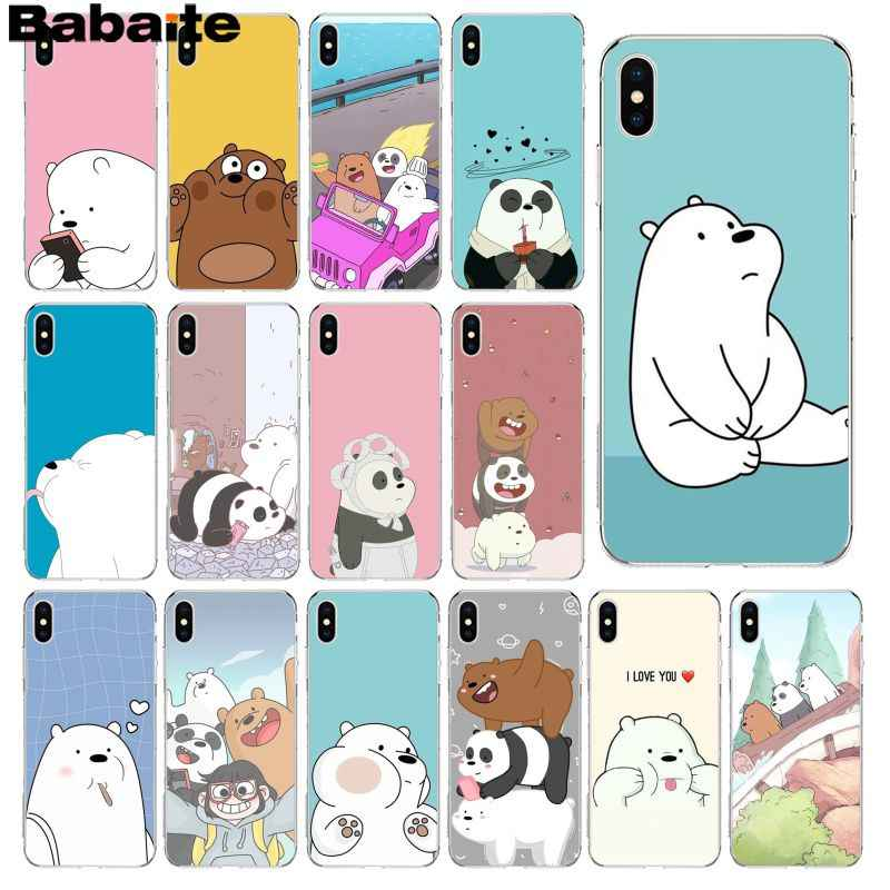 Babaite Cute Cartoon We Bare Bears Brothers Funny Luxury Unique Design Phone Cover For Iphone 8 7 6 6s Plus 5 5s Se Xr X Xs Max