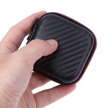Mini Portable Earphone Case Storage Carry Bag Earpieces Cables Lines Hard Case Cables SD Cards Headphones
