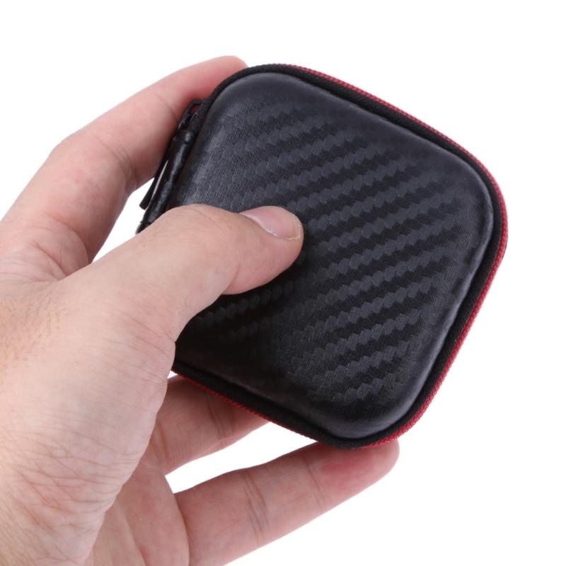 Mini Portable Earphone Case Storage Carry Bag Earpieces Cables Lines Hard Case Cables SD Cards font